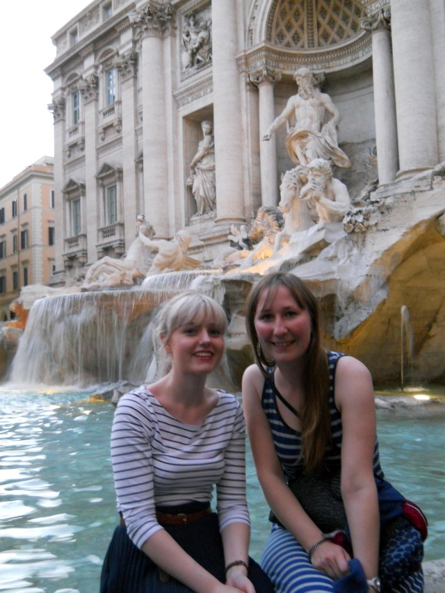 Emma Kate Trevi Fountain Rome
