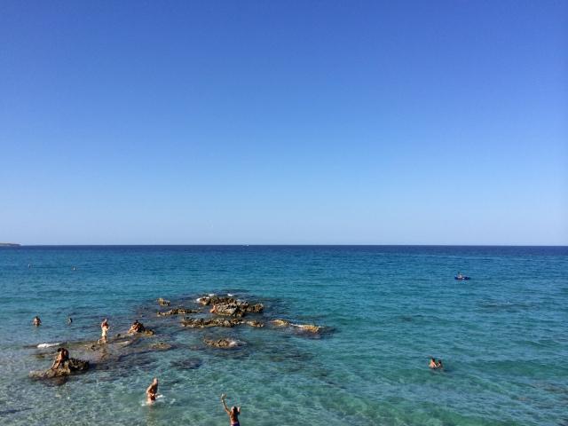 Puglia rock beach